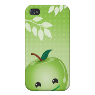 Green cute  case for iPhone 4