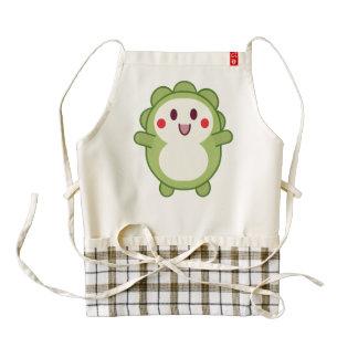 Green cute monster cartoon zazzle HEART apron