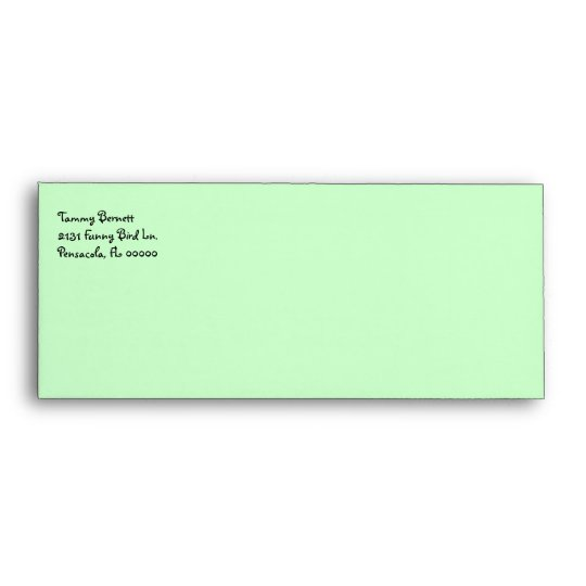 Green Cute Owls Stationery Envelope