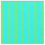 [ Thumbnail: Green & Cyan Stripes Fabric ]