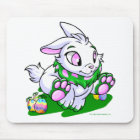 Green Cybunny racing through neggs Mouse Pad