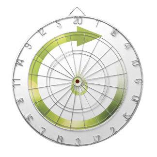 Green Cycle Dartboard With Darts