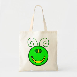 Green Cyclops Monster Face Budget Tote Bag