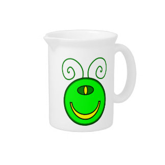 Green Cyclops Monster Face Beverage Pitchers