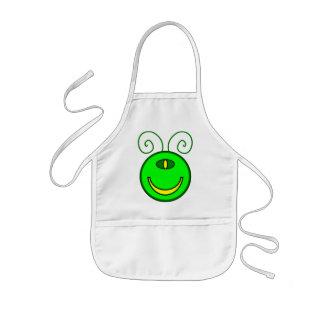 Green Cyclops Monster Face Kids' Apron