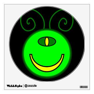 Green Cyclops Monster Face Wall Sticker