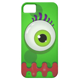 Green cyclops monster with a huge eye iPhone SE/5/5s case