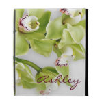 Green Cymbidium Orchid Personalized iPad Case