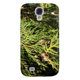 green cypress tree leaves samsung galaxy s4 cover