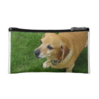 green dachshund cluch makeup bag