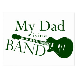 Green Dad is in a Band Postcard