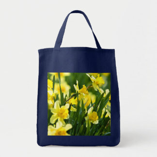 GREEN DAFFODIL BAG COTTON TWILL SAVE TREES