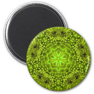 GREEN DAHLIA 2 INCH ROUND MAGNET