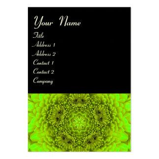 GREEN DAHLIA ,  black white Business Cards
