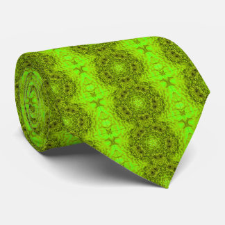 GREEN  DAHLIA FLOWERS Abstract Floral Tie