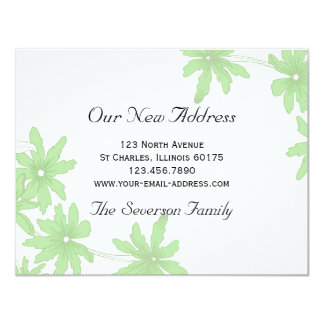Green Daisies New Address Card