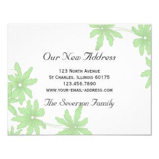 Green Daisies New Address Card