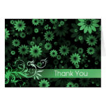 Green Daisies Thank You Card