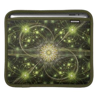 Green Daisy Flame Fractal iPad Sleeves