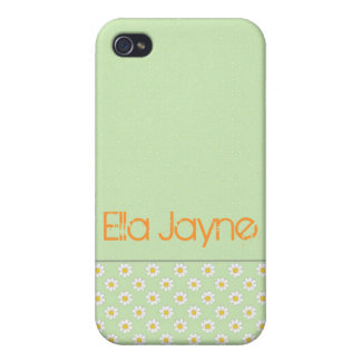 Green Daisy Polka Dots iPhone 4/4S Covers