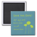 Green Daisy Save the Date Magnet