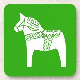 Green Dala Horse Drink Coaster