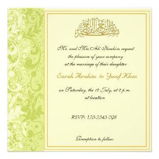 204 muslim wedding invitations muslim wedding for Free printable muslim wedding invitations