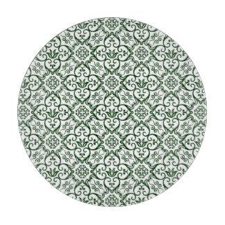Green Damask Cutting Board