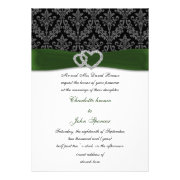 Green wedding invites by mgdezigns