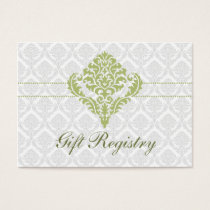 green  damask Gift registry  Cards