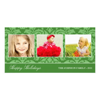 GREEN DAMASK HOLIDAY | HOLIDAY PHOTO CARD