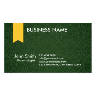 Green Damask Parasitology Business Card