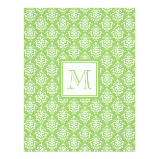 Green Damask Pattern 1 with Monogram Flyer