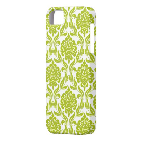 Green Damask Pattern iPhone SE/5/5s Case
