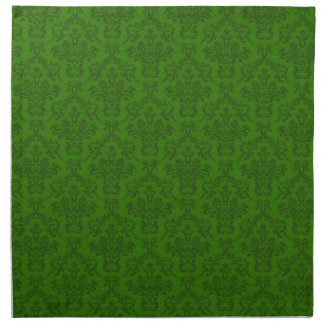 Green Damask Pattern Napkin