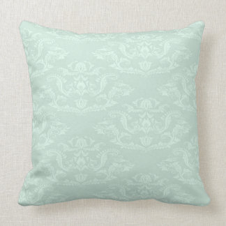 Green Damask Pillows