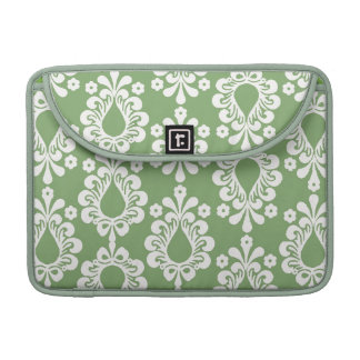 Green Damask Rickshaw Sleeve for MacBook Pro