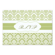 green damask   rsvp standard 3.5 x 5 card