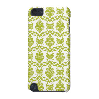 Green damask vintage flowers floral pattern flower iPod touch (5th generation) cover
