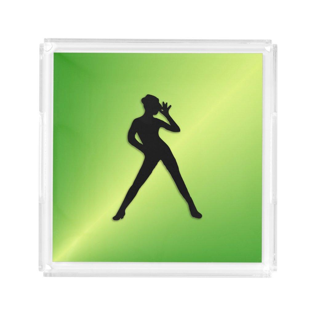Green Dancer Acrylic Tray