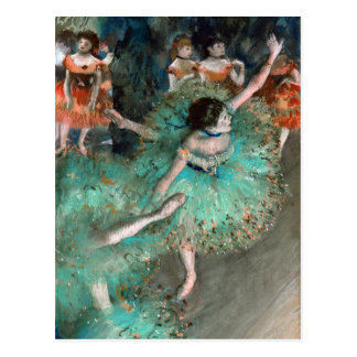 Green Dancer Danseuse Verte Edgar Degas Postcard