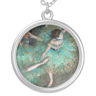 Green Dancer (Danseuse Verte) Edgar Degas Silver Plated Necklace