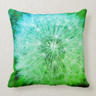 Green Dandelion Pillow