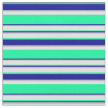 [ Thumbnail: Green, Dark Blue, Grey, and Lavender Pattern Fabric ]