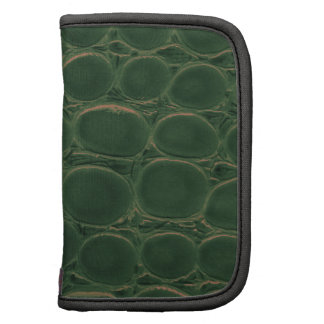Green dark elegant stylish & chic real leather planners