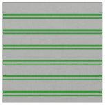[ Thumbnail: Green & Dark Gray Colored Pattern Fabric ]