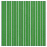 [ Thumbnail: Green & Dark Gray Lines Pattern Fabric ]