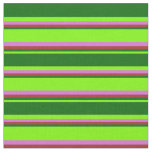 [ Thumbnail: Green, Dark Green, Brown, and Orchid Colored Fabric ]