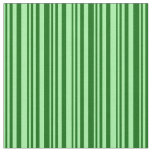 [ Thumbnail: Green & Dark Green Colored Lines/Stripes Pattern Fabric ]
