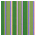 [ Thumbnail: Green, Dark Green, Light Pink, and Slate Blue Fabric ]